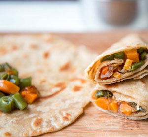Healthy Vegetable Paratha Rolls Recipe