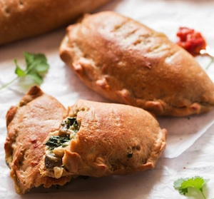 Whole Wheat Mushroom Spinach Calzone